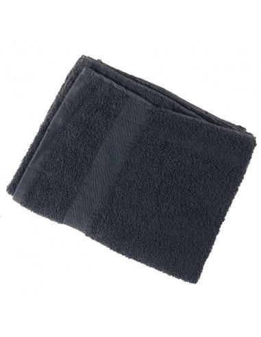 EUROSTIL uterák na vlasy 40 x 80 cm bavlnený čierny
