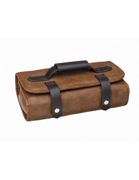 SIBEL Barburys Buzz barber taška na náradie hnedá 46 x 25 cm