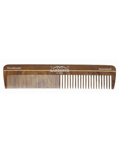 SIBEL Barburys hrebeň na vlasy ROSEWOOD N°4 - 17,6 cm