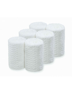 SIBEL Barburys 6x uterák na tvár bavlnený biely 20 x 70 cm