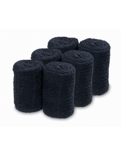 SIBEL Barburys 6x uterák na tvár bavlnený čierny 20 x 70 cm