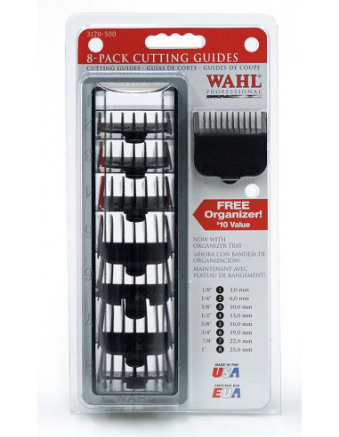 WAHL Set čiernych plastových násadcov pre WAHL - 8 ks