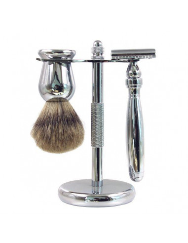 Frank Shaving Chromový 3-dielny set na holenie