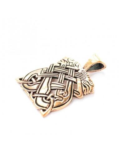 Keltský bronzový prívesok Chrty
