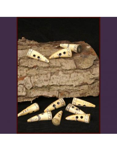 Dekorované gombíky z kosti