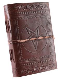 Kožený zápisník s pentagramom