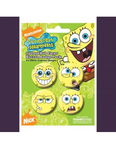 Spongebob odznaky - tváre