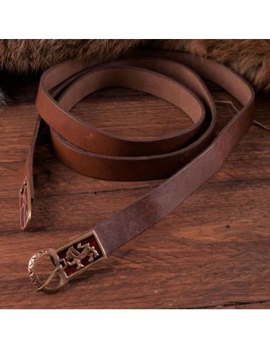 Stredoveký kožený opasok s grifom a...