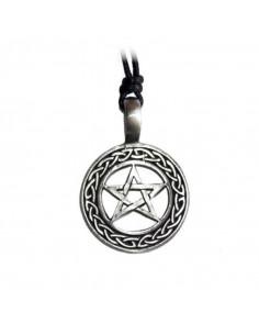 Cínový prívesok pentagram v kruhu