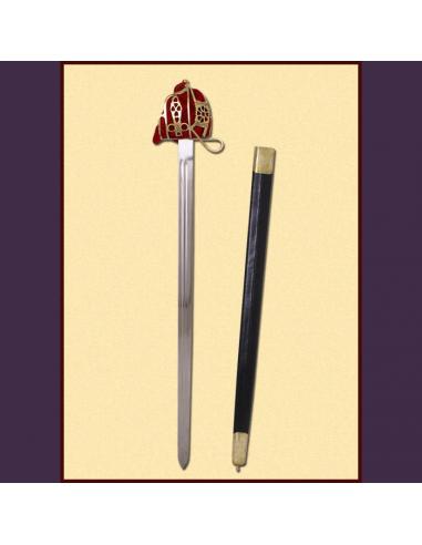 Škótsky meč s mosadzným košom