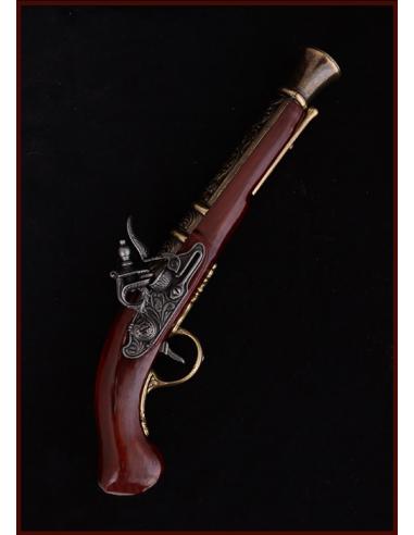 Replika mušketová pištoľ s florálnym...