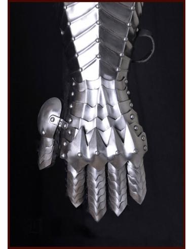 Ľavá plechová rukavica