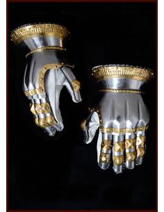 Plechové rukavice s...