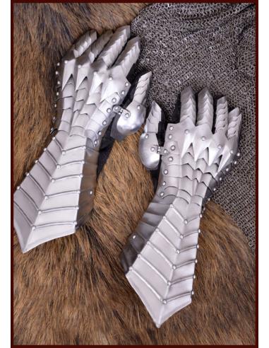 Neskorostredoveké plechové rukavice