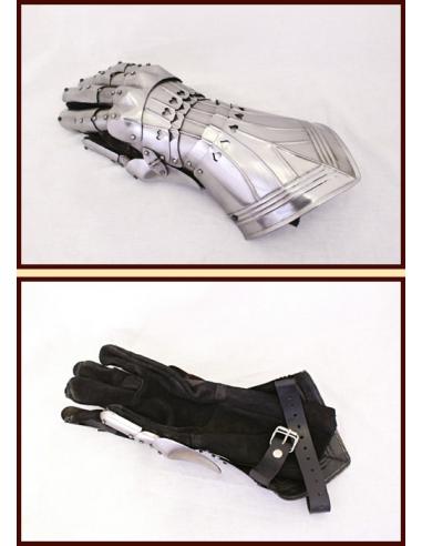 Gotické rukavice plechové
