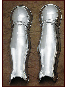 Oceľová zbroj na nohy...