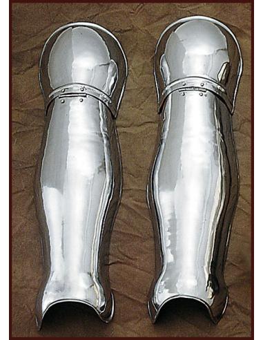 Oceľová zbroj na nohy jednoduchá