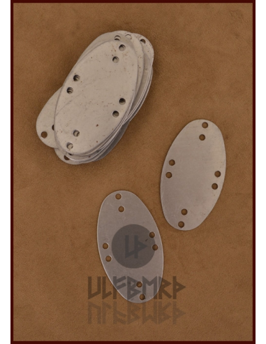 Kovové platničky na lamelárnu zbroj