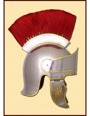 Aténska prilba s červeným chocholom