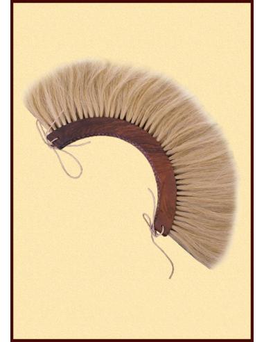 Blond drevený chochol na rímsku prilbu