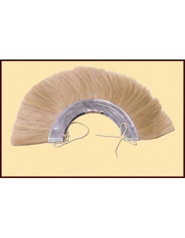 Blond kovový chochol na rímsku prilbu