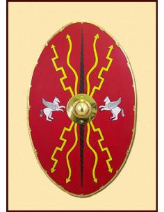 Rímsky scutum oválny