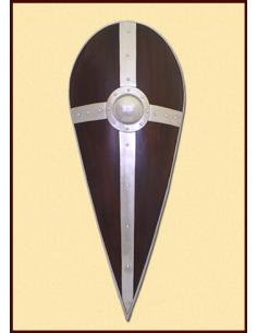 Normanský štít s kovaním