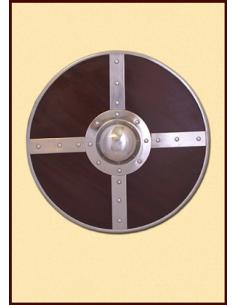 Okrúhly štít s kovaním