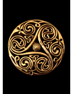 Keltská mosadzná brošňa