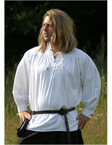 Stredoveká košeľa so šnúrkami