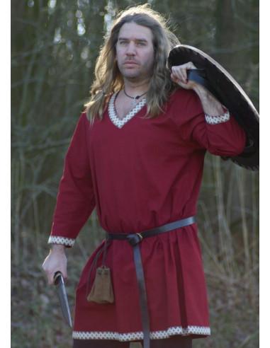 Bavlnená vikingská tunika s lemom