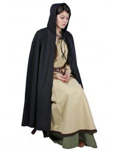 Bavlnený čierny plášť kratší