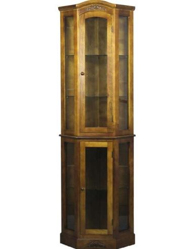 Rohová skriňa s vitrínou S65869