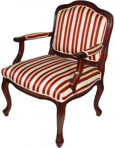Stolička s opierkami bielo-bordová