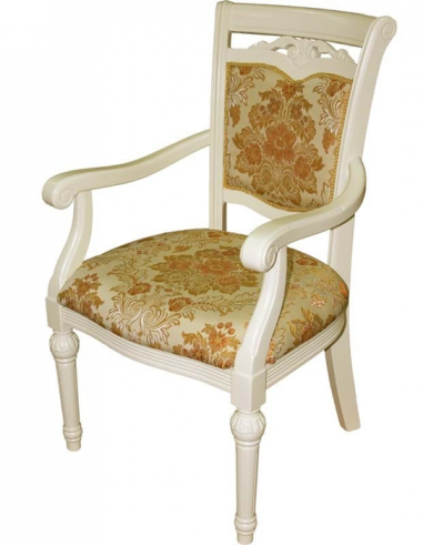 Biela stolička s béžovým čalúnením