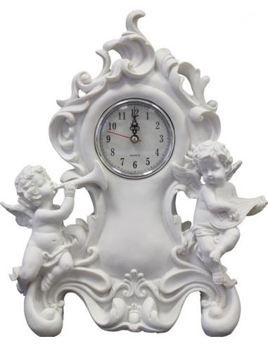 Biele hodiny s anjelikmi H61688