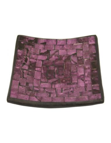 Tanier pod sviečku fialový