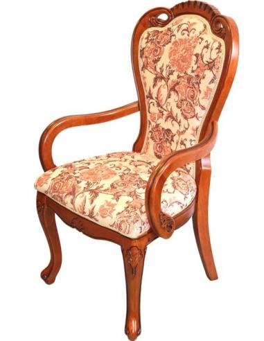 Luxusná stolička zdobená kvetmi