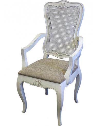 Stolička s opierkami biela