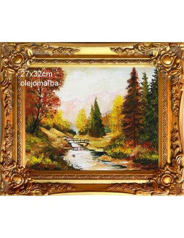 Obraz - Most cez potok