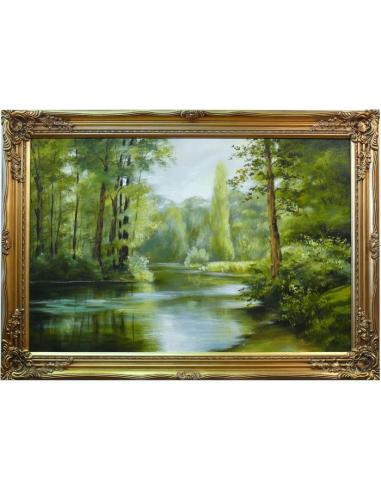 Obraz - Riečka cez les