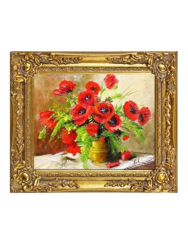 Obraz - Váza s kyticou vlčích makov