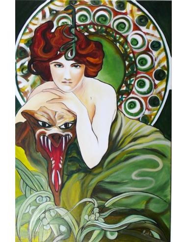 Obraz Alfons Mucha - Smaragd