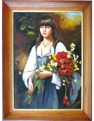 Obraz - Žena s kvetmi