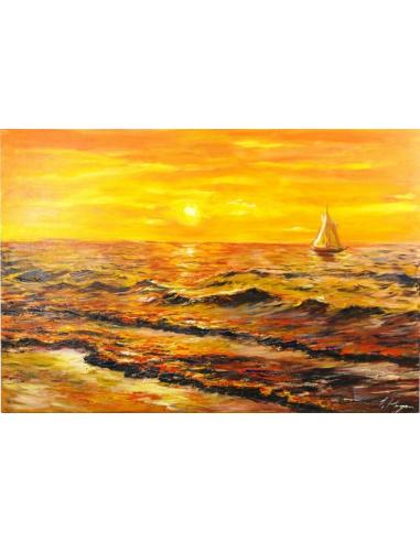 Obraz - Opustená plachetnica na svitaní