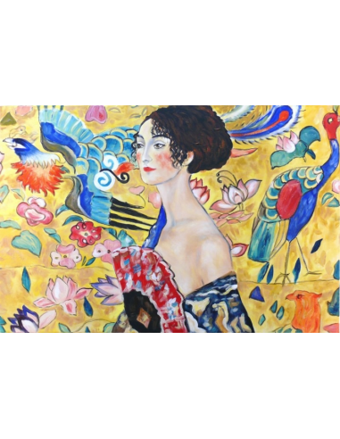 Obraz Gustav Klimt - Žena s vejárom