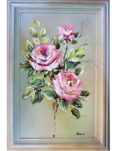 Obraz - Tri ružové ruže