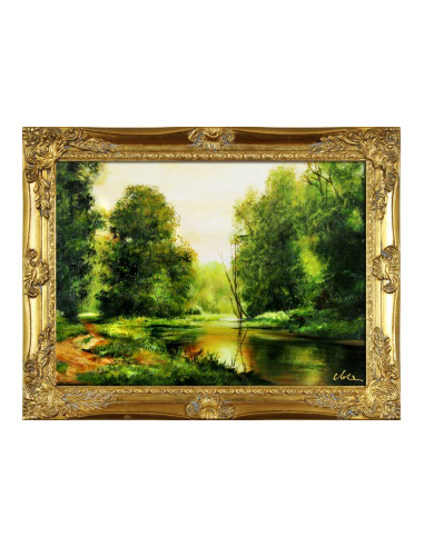 Obraz - Tichý potok cez les