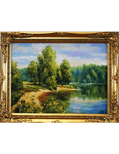 Obraz - Les nad jazerom
