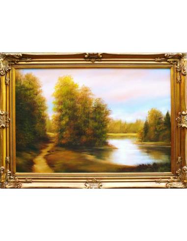 Obraz - Cestička pri rybníku